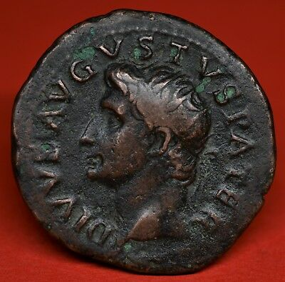 Nice Copper As Of Divus Augustus: Altar / Provident. Rome, Ad 22-30. Ric: 81. Vf
