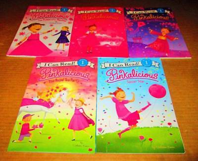 "Can Read ""Pinkalicious"" LEVELED READERS Lot of 5-Level 1 -Soccer Star, Cherry Bl"