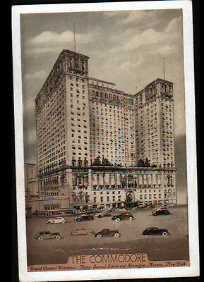 """NEW YORK (U.S.A.) HOTEL """"GRAND CENTRAL TERMINAL / THE COMMODORE"""" vers 1930"""