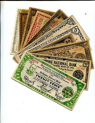 Philippine Islands Ww2 Guerilla Notes Lot Of 17 Diff Notes Vg Or Better 13.95