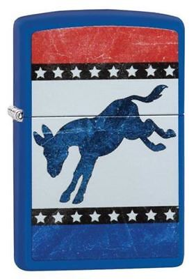 Zippo Lighter - Blue Democratic Donkey