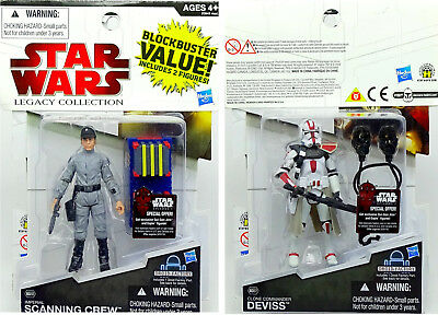Scanning Crew & Commander Deviss Value Pack Star Wars Legacy Collection Hasbro