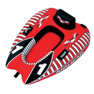 Airhead Viper 1 Single Rider Towable Tube Black/Red