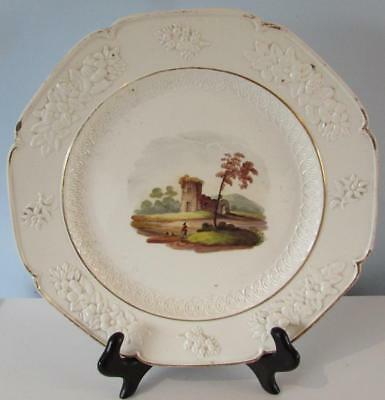 Antique 18thC Creamware Plate - Handpainted Decoration - Neale and Co Circa 1790
