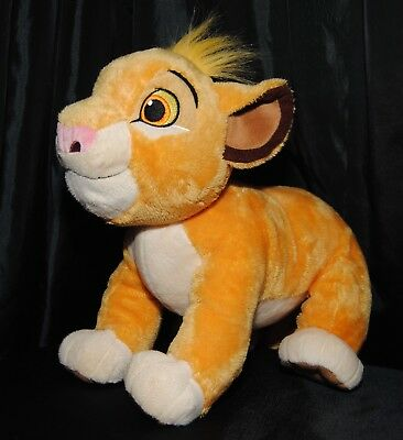 Disney Store Genuine The Lion King 14 Inch Young Simba Soft / Plush Toy