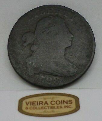 1798 Draped Bust Large Cent - Hard to Find  -   #B10668