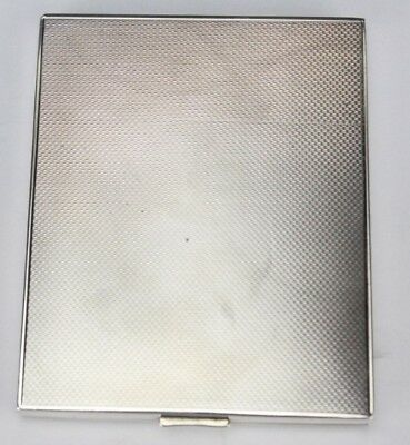 Mid Century Modern 800 European Silver Engine Turned Cigarette Card Case NR PBB