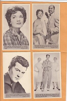1959 Nu Cards  The Fleetwoods No:24  Rock & Roll    Mint