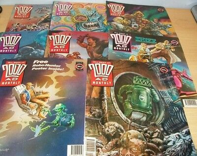 Best of 2000AD Monthly magazines x8 1992