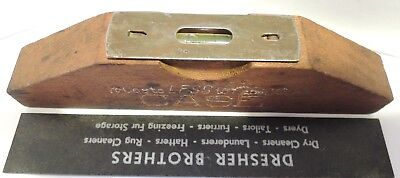 """Vintage Antique Case Tractor Wood Level """"It costs less to Farm with Case"""" tool"""
