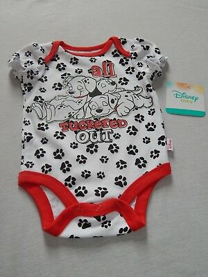 NEW 101 Dalmatians Creeper Baby Disney Bodysuit Shirt Outfit Puppy Dog GIRLS