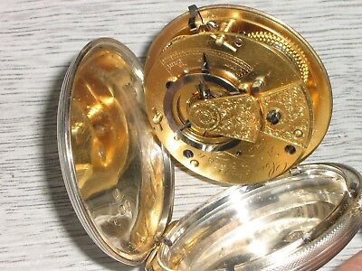 Antique Silver Verge Fusee Hunter Pocket Watch. E & R Cockings. Andover. 1846.