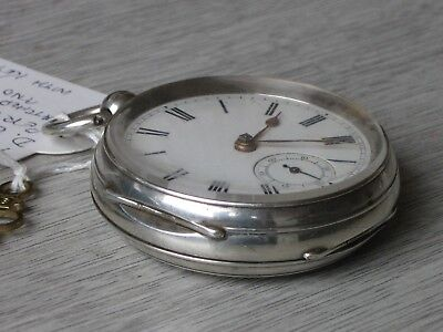 Antique Heavy 0.925 Silver Fusee Pocket Watch.  1894. D.Burnfield. Perth.