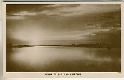 A Real Photo Post Card of Sunset On The Nile, Khartoum. Sudan