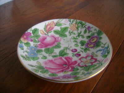 Crown Staffordshire Pin Tray With A Floral Pattern