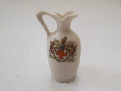 Small Gemma Crested China Shaped Jug  No Town Name Under Crest