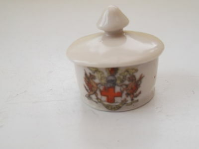Very Small Gemma Crested China Pill Box  No Town Name