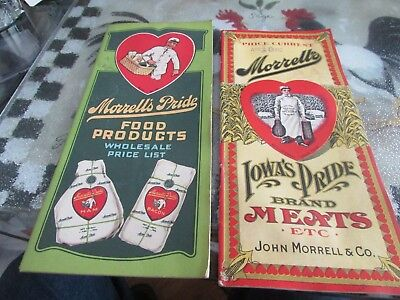 1917 & 1924 NOS Original Food product sale catalogs from John Morrell & Co.