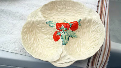 Beswick Cream Dish In  A Three Leaves Design And Tomatoes Decoration