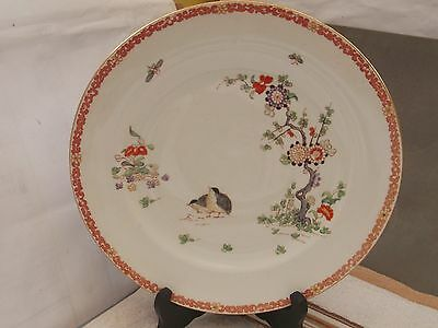 Small Dinner Plate Showing A Flowering Tree, Birds & Flying Insects  ?tuscan