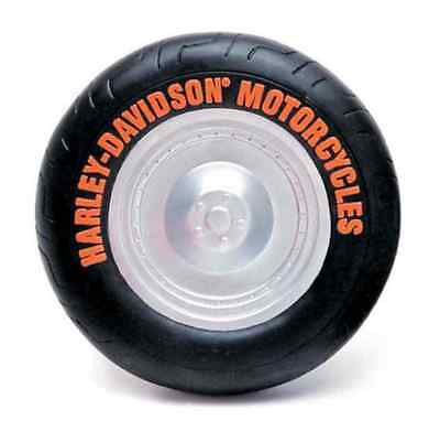Harley-Davidson Vinyl Tire Squeaker Dog Toy - 5 inch, Black H8200 H V01DOG