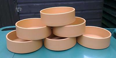 Wholesale lot of 6 terracotta look, plastic pet bowl, new, by Hatchwell