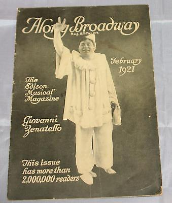 "Vintage 1921 ""Along Broadway"" Musical Magazine Season's Musical Hits Very RARE"