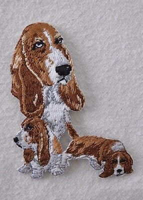***embroidered*** Iron On Patch Dog Detailed Top Quality Basset Hound Free Ship