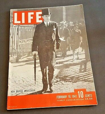 February 10, 1941 LIFE Magazine Old  ad 40s advertising FREE SHIPPING Feb. 2 11