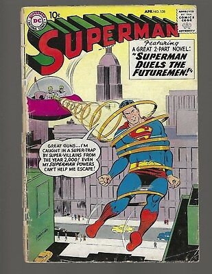 Superman #128 Superman Duels The Futuremen