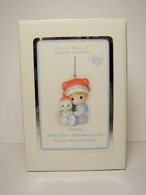 2011 Precious Moments Baby's First Christmas Boy Ornament MIB FREE SHIPPING