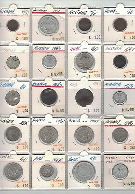 1812 to 1997 Austria 20 coins to better clearance