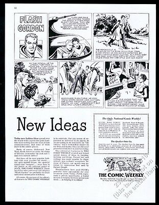 1948 Flash Gordon comic strip art Puck the Comic Weekly vintage print ad
