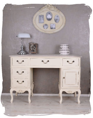 Shabby Chic Desk White Computer Table Writing Furniture Vintage