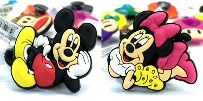 10PCS Mickey & Minnie Shoes Charms Accessories fit for Croc & Jibbitz Wristbands