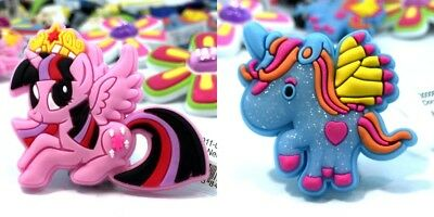 10PCS My Little Pony Shoes Charms Accessories fit for Croc & Jibbitz Wristbands