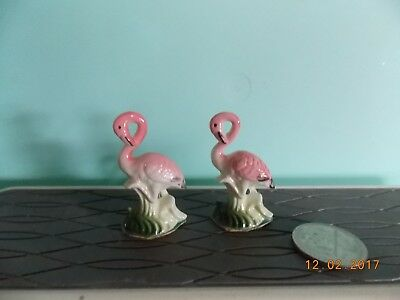 Vintage Miniature Bone China Flamingos