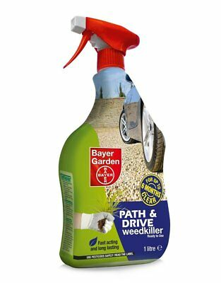 4 x Bayer 1L Path & Drive Weedkiller Fast Acting Long Lasting for upto 6 months