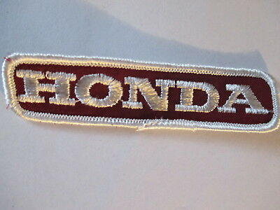 Honda Patch (Old) Maroon with White Letters