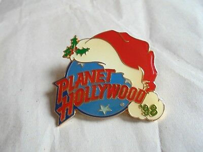 Vintage 1998 Planet Hollywood Restaurant Christmas Santa Claus Hat Pin