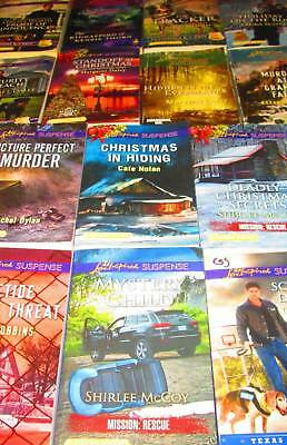 "Love Inspired ""Suspense"" Lot of 14-PAPERBACKS-Tracker, Security Breach,.."