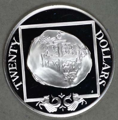 1985 British Virgin Islands 20 Dollars Proof Silver Coin - 8 Reales Cob Coin