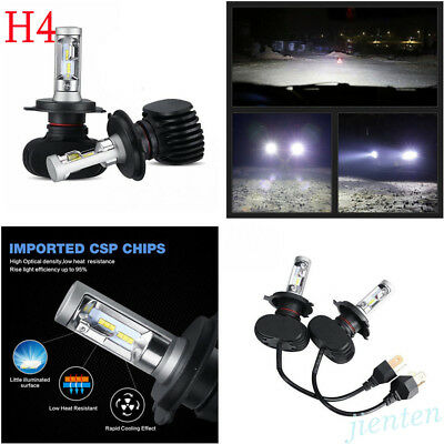 Supper Bright 6500K H4 9003 HB2 4000LM Hi/Lo COB LED Headlight Bulb Fog Lamp