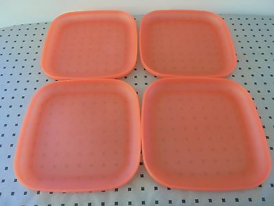 Tupperware Set Of 4 Dinner Lunch Plates, Camping, Bbq's
