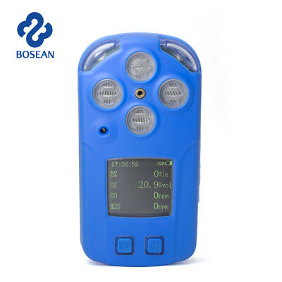4 in 1 Toxic Harmful Gas Detector CO H2S EX O2 Oxygen Gas Test Monitor Meter