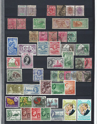 British Colonies  1880-1980 interesting lot on 6 album pages