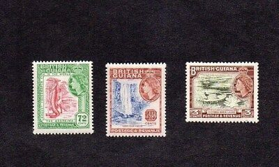 1954-63. 3c/48c/72c QEII PICTORIAL DEFINITIVES.MINT NEVER HINGED.SG 333/341/342.