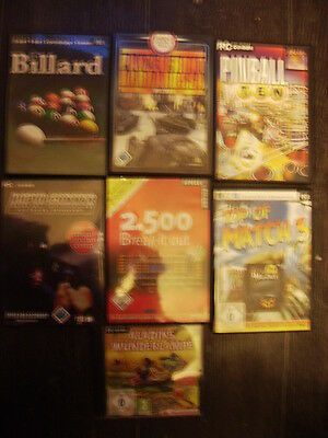 7 PC-Games: Rapid Gunner Tactical Shooter,Panzerfront,Pinball,Billard,Match3