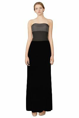 Giorgio Armani Ombre Pleated Bodice Velvet Strapless Eve Gown Dress 42 IT 8 US