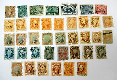 Large Lot Of Old Revenue Stamps From Old Album 1800's